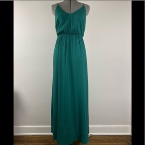 Loft green maxi dress